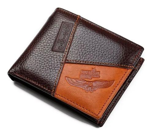 cartera billetera corta gubintu® original cuero genuino