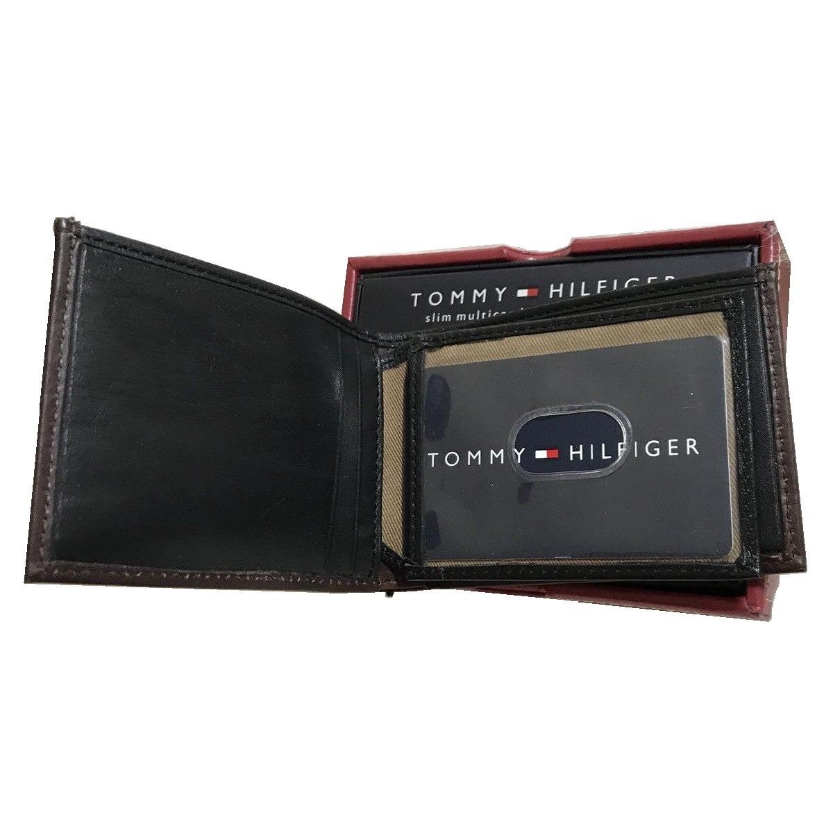 963b530ee24 cartera billetera de hombre tommy hilfiger 100% piel geniuna. Cargando zoom.