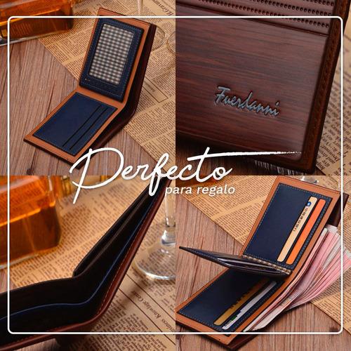 cartera billetera elegante fuerdanni para hombre ergonómica