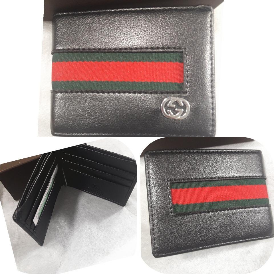 bf83b3672 Cartera Billetera Gucci Negra Para Hombre - $ 66.999 en Mercado Libre