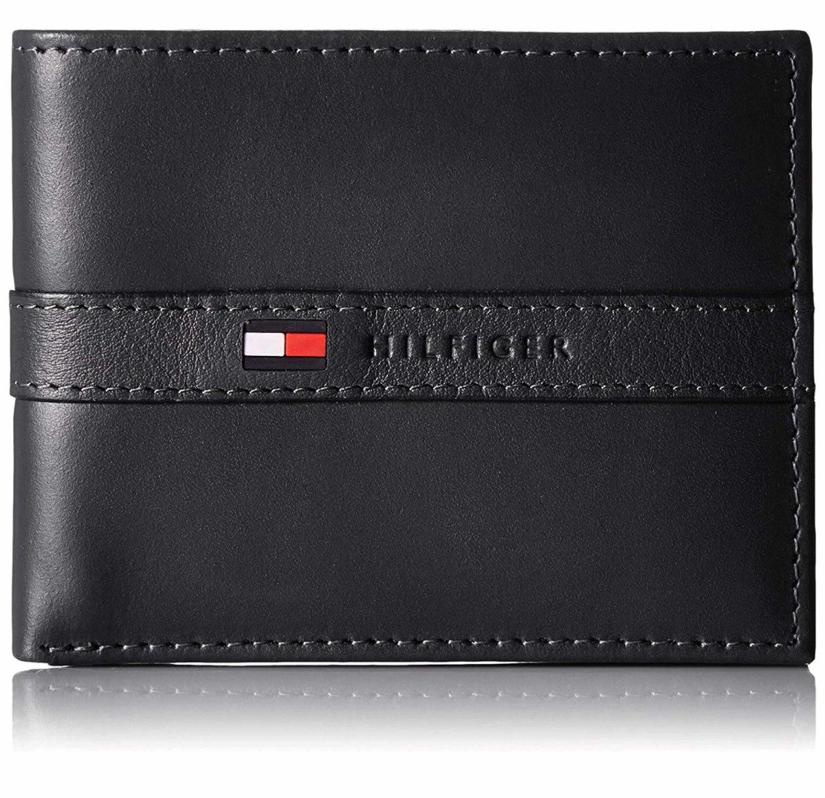 29ac6041bae cartera billetera hombre piel tommy hilfiger original negra. Cargando zoom.