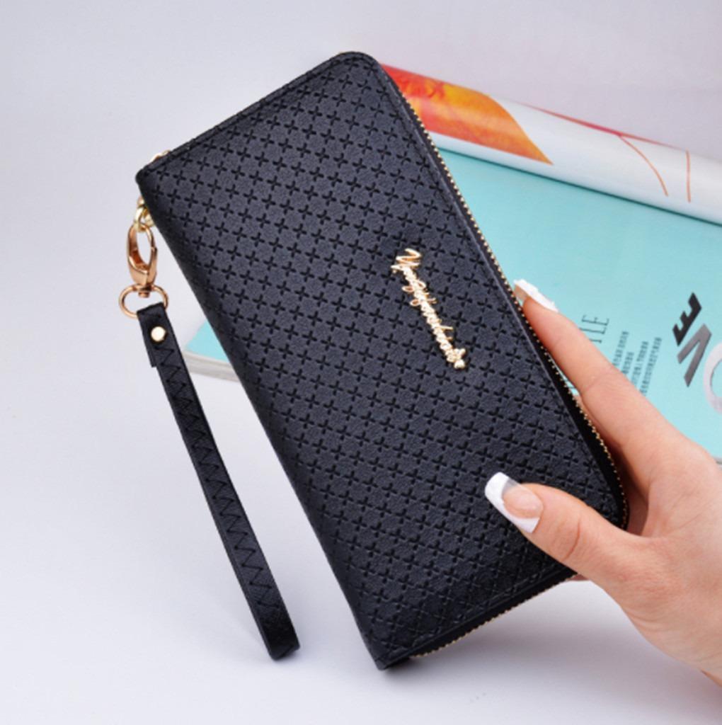 798df8384 cartera billetera larga cuero de mano estafa cierre mujer. Cargando zoom.