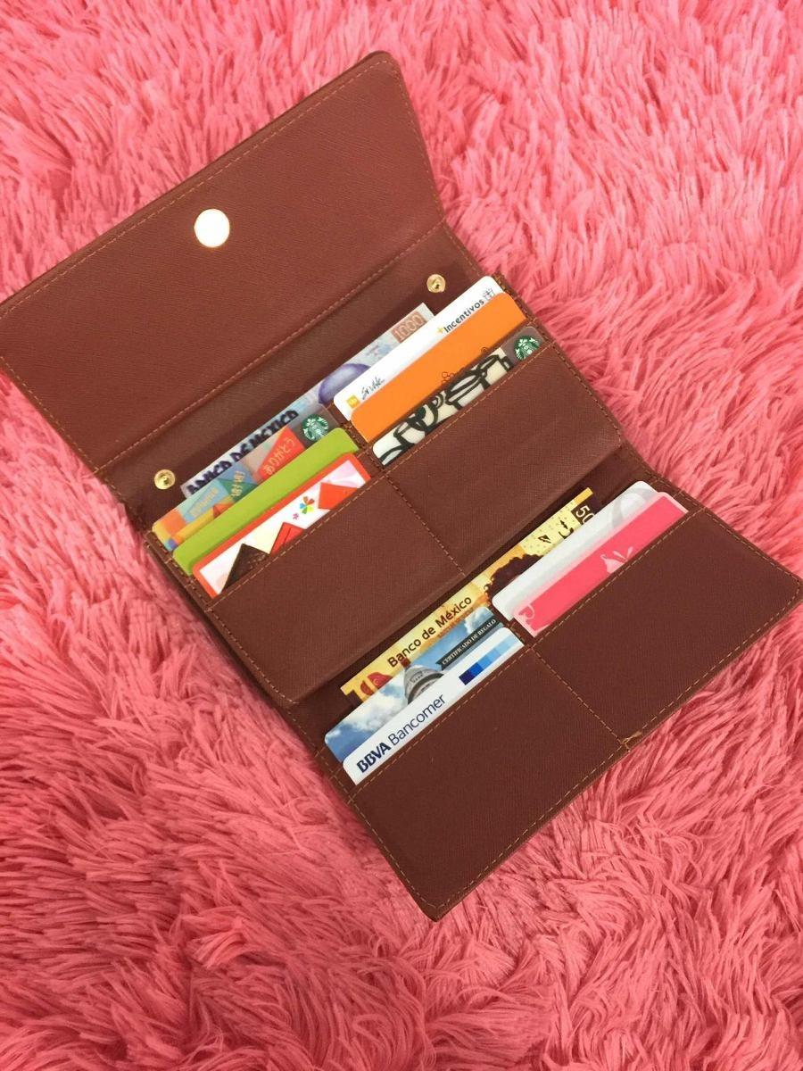 mejor selección 35026 5cc72 Cartera Billetera Mujer Cafe Bolso Clutch Moda C24-b62