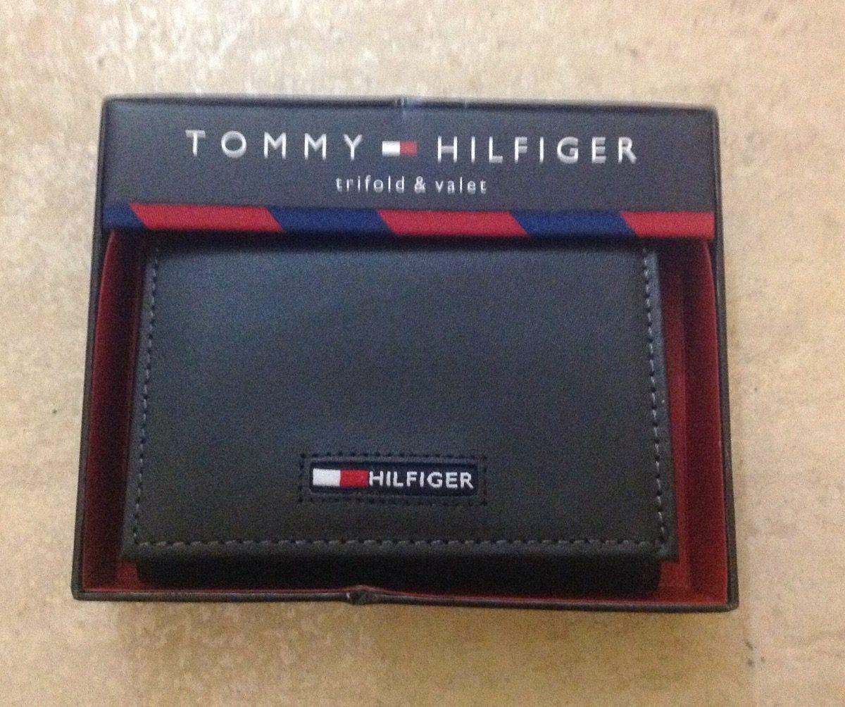 beef647c996 Cartera Billetera Tommy Hilfiger Negra Piel Original -   650.00 en ...