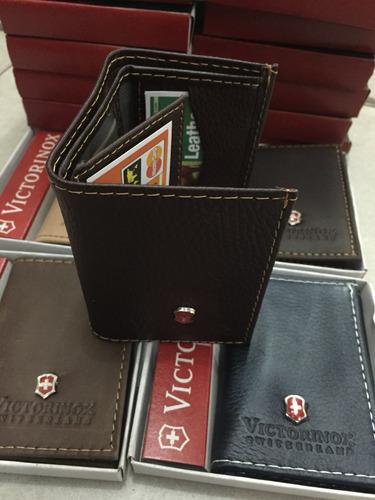 cartera billeteras victorinox cuero caballero