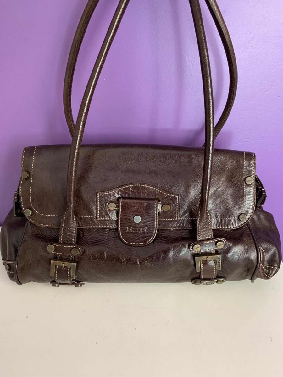 76f293eb4 Cartera Blaque , Cuero Marrón Chocolate , Impecable - $ 1.600,00 en ...