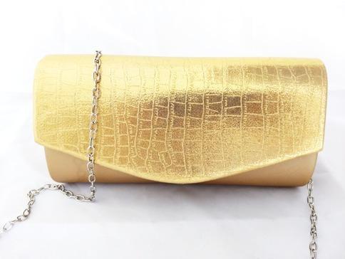 1fffbaf3 Cartera Bolsa De Mano Mujer Fiesta Noche Dorado Brillante - $ 228.00 ...