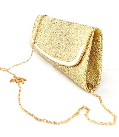 d91ca304 Cartera Bolsa De Mano Mujer Fiesta Noche Dorado Brillante - $ 239.00 ...