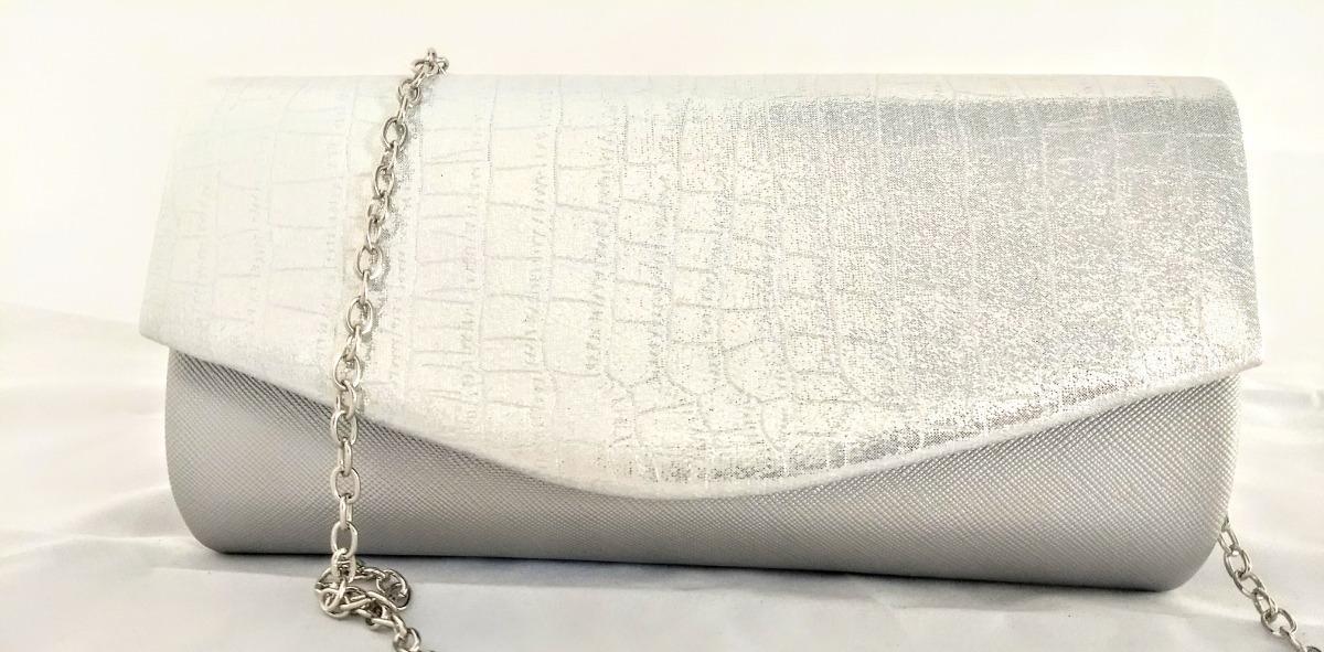 0be865ae8 cartera bolsa de mano mujer fiesta noche plateada brillante. Cargando zoom.