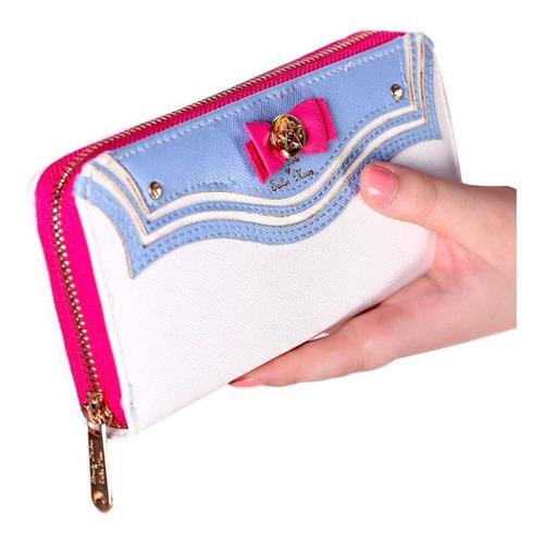 cartera bolsa sailor moon con monedero serena cute azul