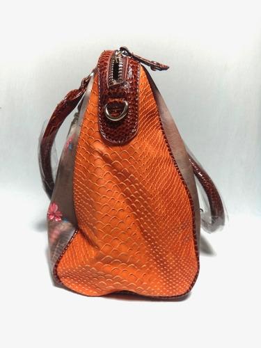 cartera bolso bandolero mayor detal 7308gsc naranja mujer