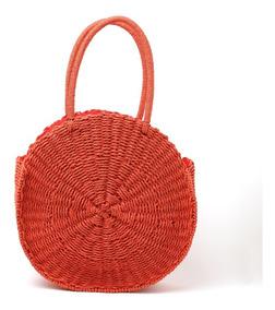 comprar online 3511f 7c8b1 Cartera Bolso Canasto Playero Rafia Circular Redondo Colores