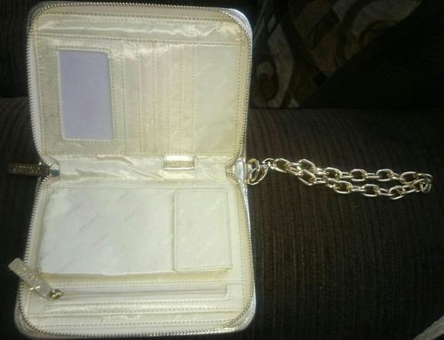 cartera / bolso dorado versace + crema corporal perfumada /