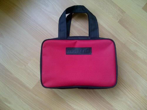 cartera / bolso moiskin color beige o rojo 40x20x15