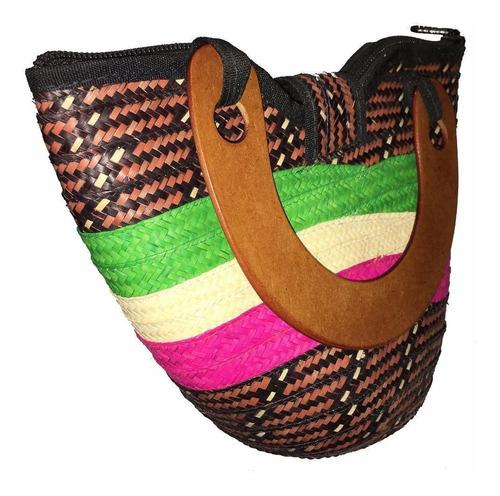 cartera bolso para niñas artesanal hecha a mano caña flecha