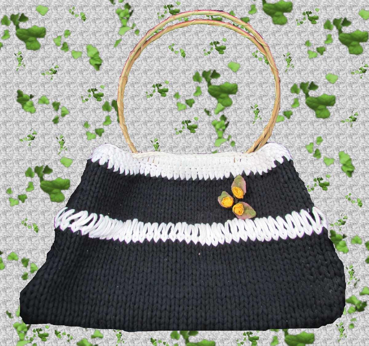 Cartera - Bolso Tejido Crochet Con Forro - $ 500,00 en Mercado Libre