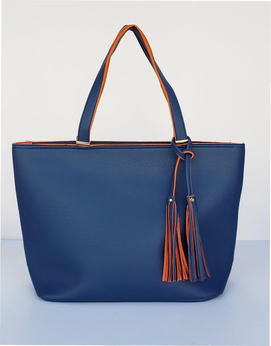 comprar popular f3d8b d4f9a Cartera Color Azul Marino De Pu, Cuero Ecologico K738-48