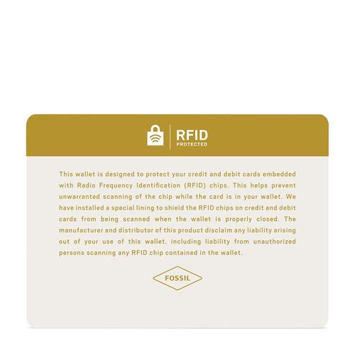 cartera combinada rfid derbick international combi de fossil