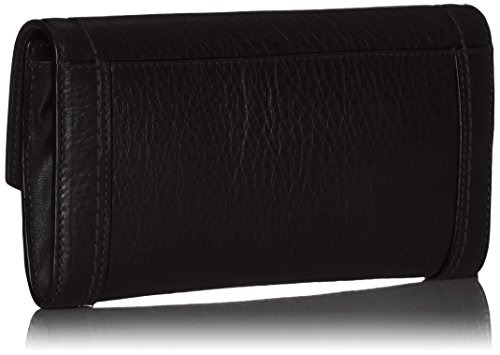 cartera continental marc jacobs maverick flap, negro, talla