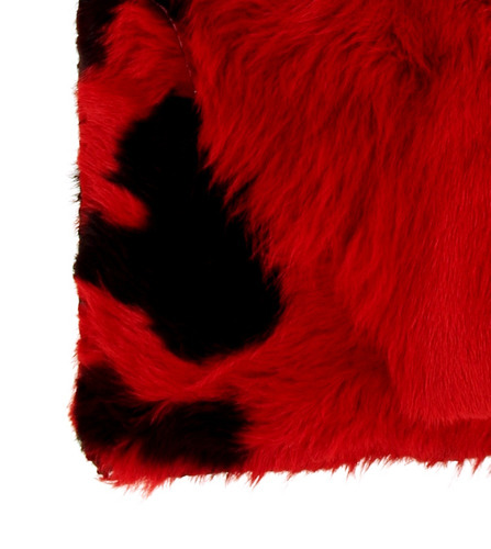 cartera cuero nonato pelo largo roja negra carolina de cunto