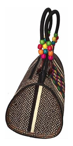 cartera dama elegante bolso para mujer artesania caña flecha