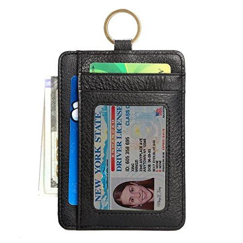 cartera de bloqueo rfid para hombre, bolsillo de tarjeta de