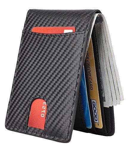 cartera de bolsillo de cuero con billetera de hombre casmon