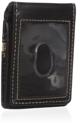 cartera de bolsillo frontal delgada guess montana, negro, ta