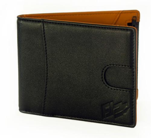 cartera de caballero money clip rfid anti robo de identidad