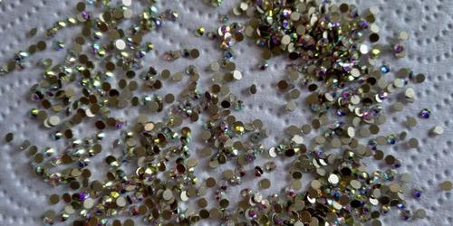 cartera de cristal tipo swarovski , mc nails ss8 tornasol
