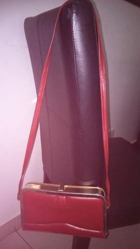 cartera de cuero de vestir roja