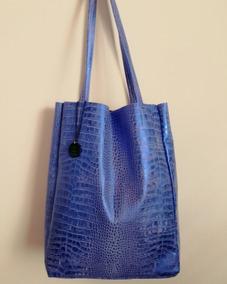 ea371c3e746 Cartera De Cuero Rufina! Maxi Bolso! Color Azul Electrico