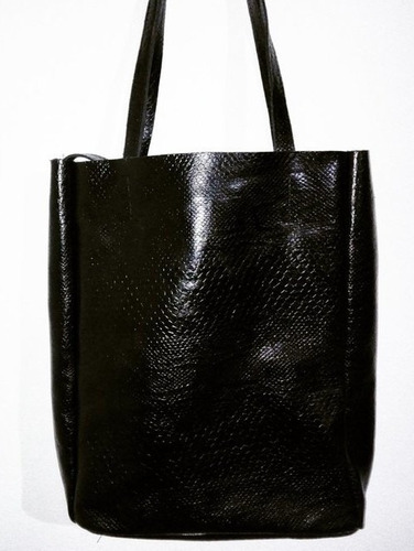 cartera de cuero - super tote bag negro