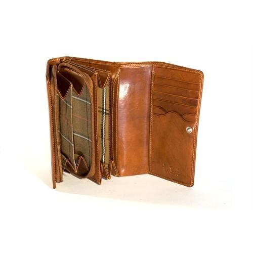 cartera de cuero ultimo con tarjeta de crédito y el