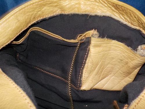 cartera de cuero-usada