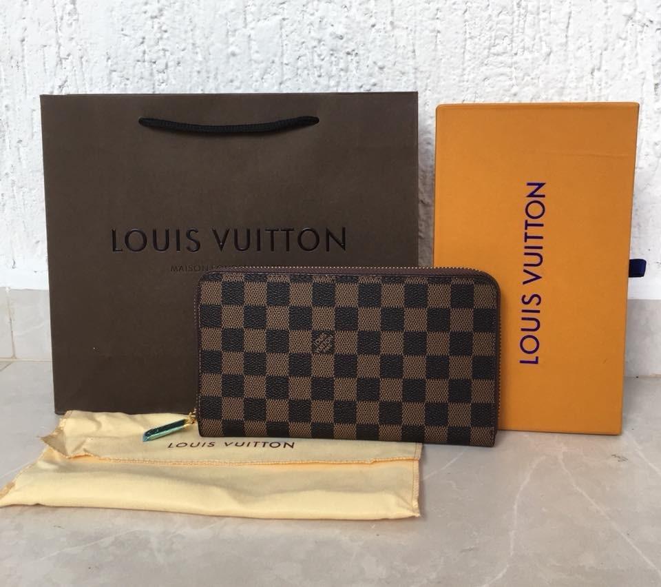 452831957 Cartera De Dama Louis Vuitton Cuadros Cafes - $ 525.00 en Mercado Libre