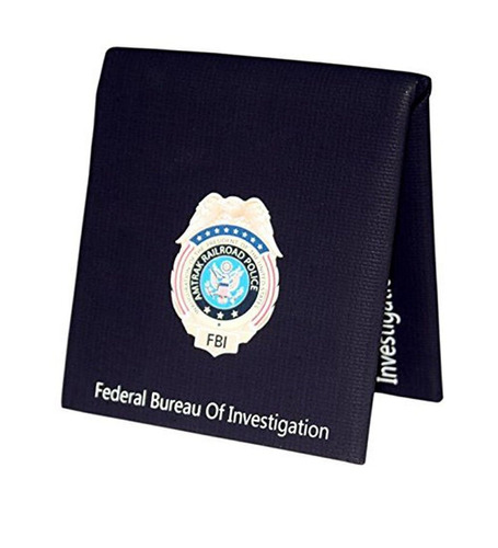 cartera de estilo del fbi con insignias monedero de mano cre