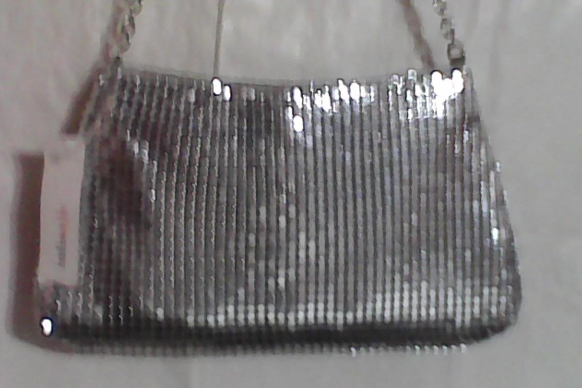 acd1bb070 cartera de mano - clutch de fiesta plata con drapeado front. Cargando zoom.
