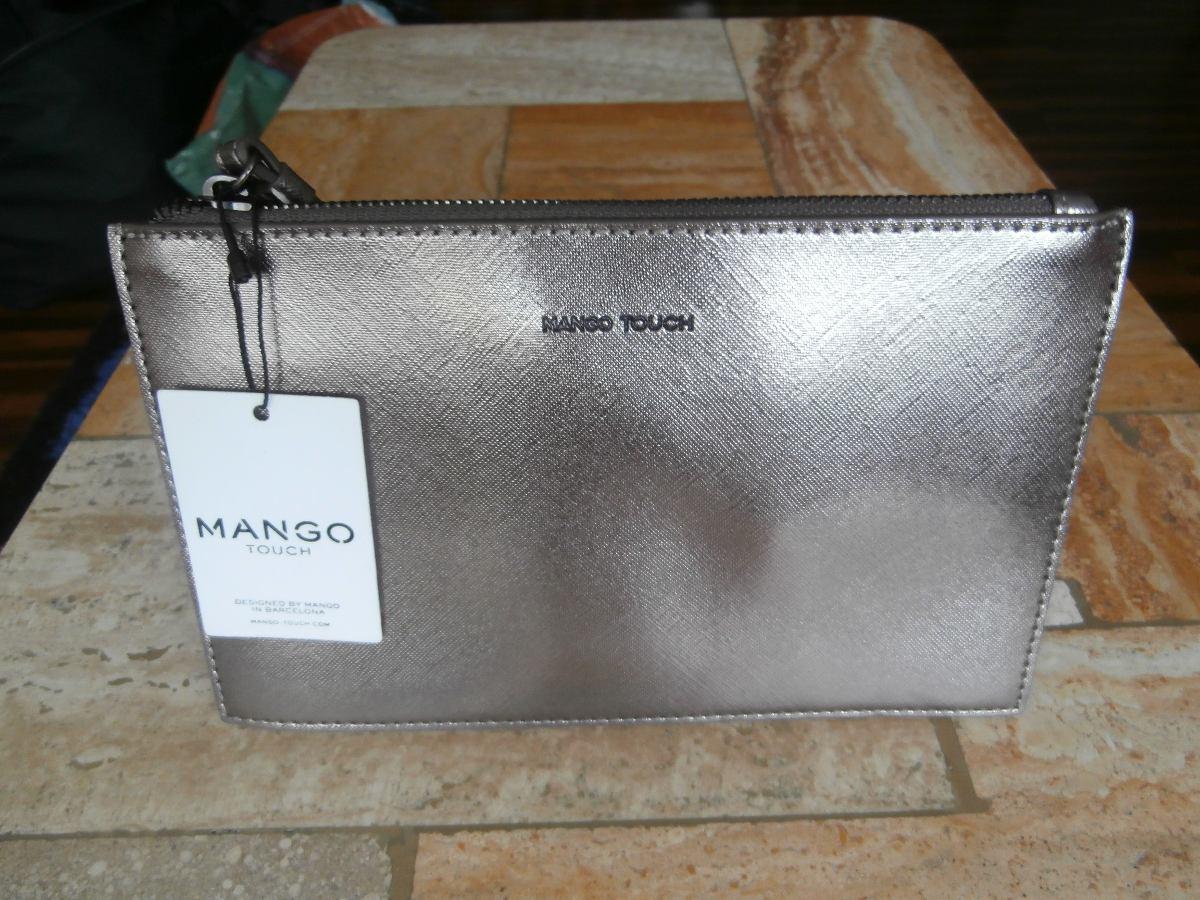 ab4db6785 Cartera De Mano Plateada Mng - S/ 55,00 en Mercado Libre
