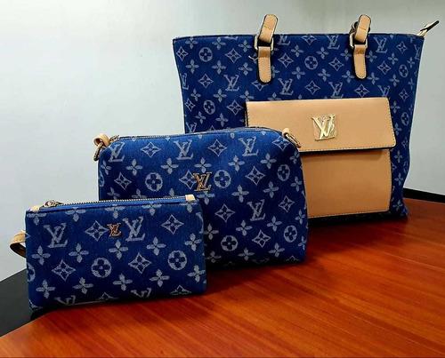 cartera de mujer elegante varios modelos versatil 3 pzs 008