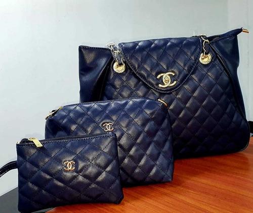 cartera de mujer elegante varios modelos versatil 3 pzs 012