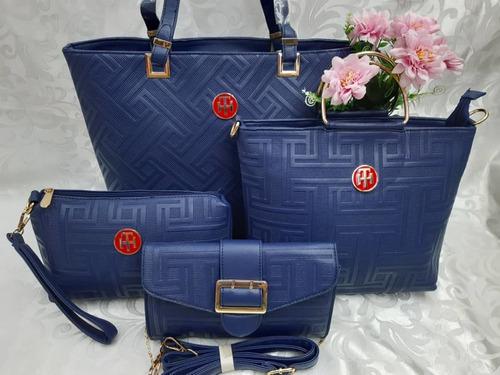 cartera de mujer elegante varios modelos versatil 4 piezas