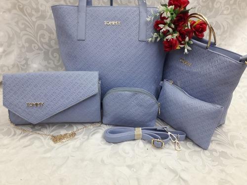 cartera de mujer elegante varios modelos versatil 5 piezas