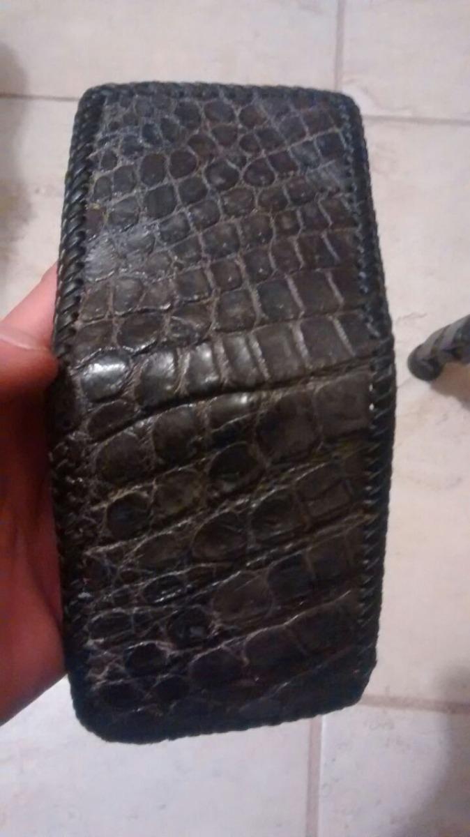 20bb8a1c1 cartera de piel exótica cocida a mano artesanal cocodrilo. Cargando zoom.