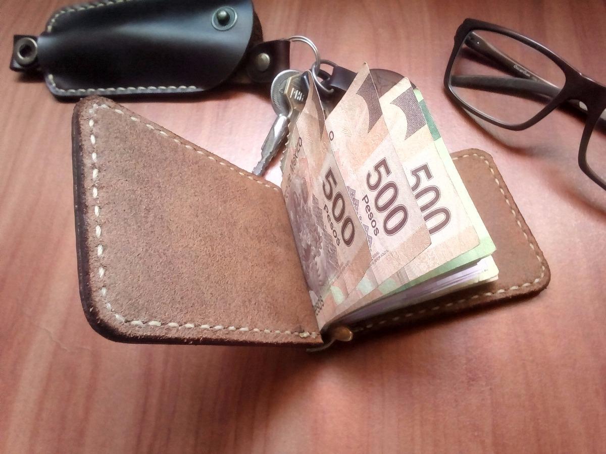 be968415e Cartera De Piel Genuina C/clip Para Billetes - $ 450.00 en Mercado Libre