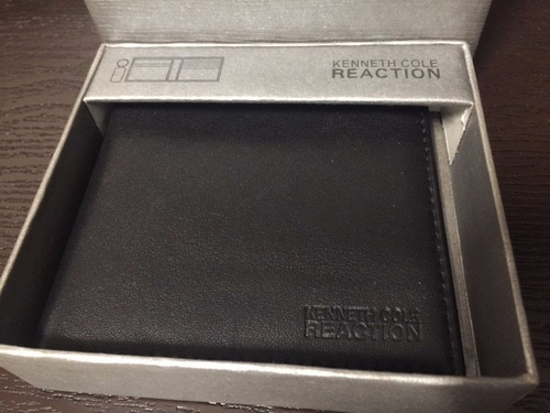 cartera de piel kenneth cole reaction original caballero