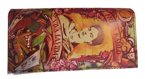 cartera de piel resistente frida kahlo