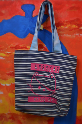 cartera de tela · tote bag · handcrafted