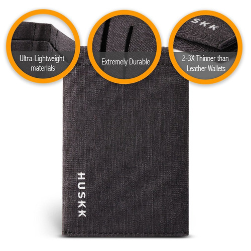 cartera delgada de los hombres - microfibra delgada bifold t