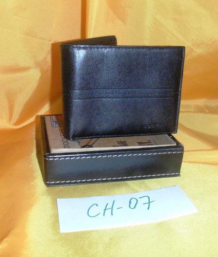 cartera dockers negra ch-07